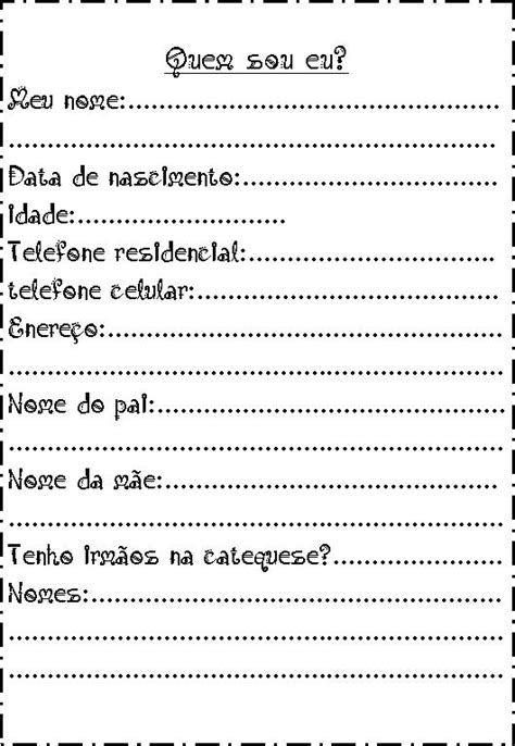 Encontros de Catequese: PRIMEIRO DIA DE CATEQUESE