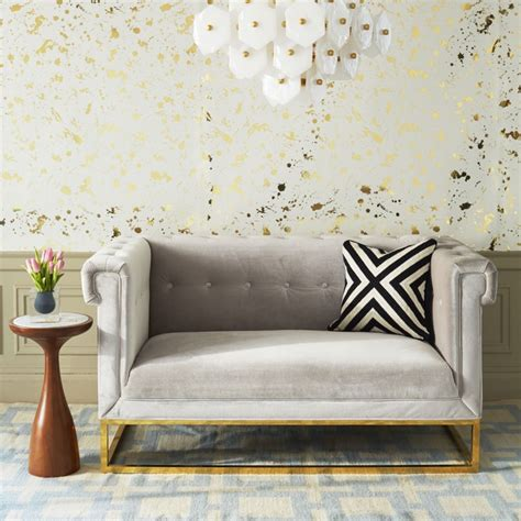 small settees for small rooms tufted settee from jonathan adler decoist