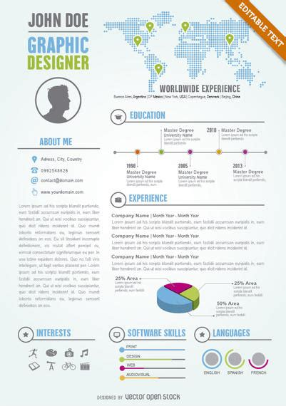 graphic design cv online graphic designer editable resume cv template vector download