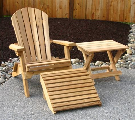 Wood Deck Chairs Plans