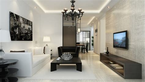White Modern Living Room by Black And White Living Room Modern Minimalist Style 3d