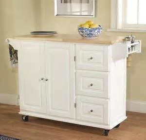 white kitchen island cart wood top counter microwave stand