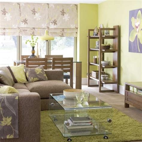 awesome blue lime green and brown living room decor 12 fotos de salas en verde y marr 243 n
