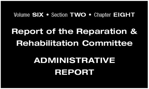 Section 8 Violations Report by Commission Special Report Trc Report