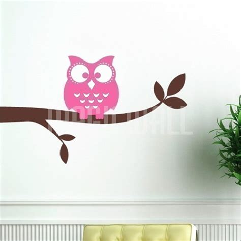 Owl Nursery Wall Decals Owl On A Branch Nursery Wall Decals Stickers Canada