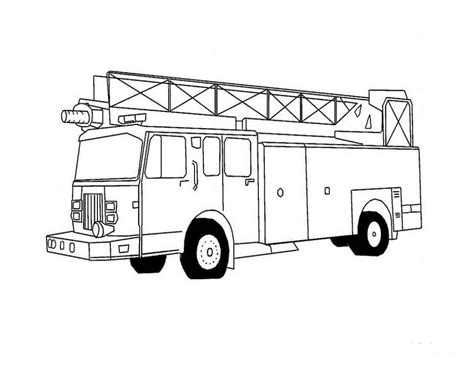 coloring page of a fire truck fire truck coloring pages
