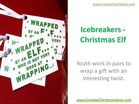 icebreakers christmas elf