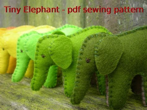 sewing pattern elephant tiny elephant pdf sewing pattern