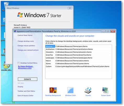 tutorial instal windows 7 starter cara mengganti tema pada windows 7 starter dan home basic
