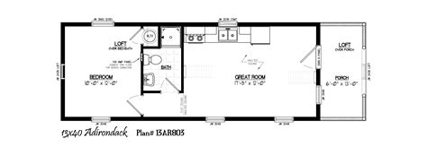 Inside Of A Derksen Building Joy Studio Design Gallery 16x40 Lofted Cabin Floor Plans