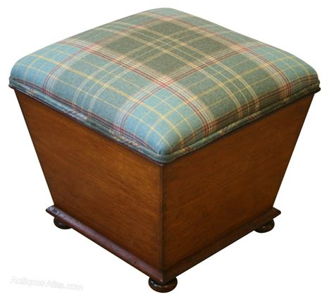 victorian ottoman a victorian ottoman with an upholstered top antiques atlas