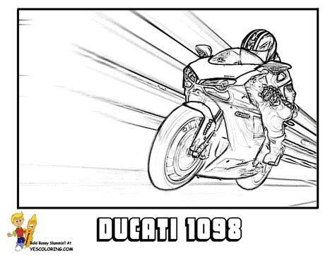 coloring pages of cars and motorcycles motorbike coloring page
