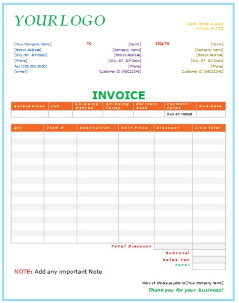 billing invoice template word joy studio design gallery