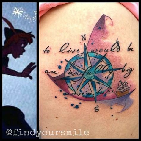 watercolor tattoo vermont schaick compass and ship to live would be