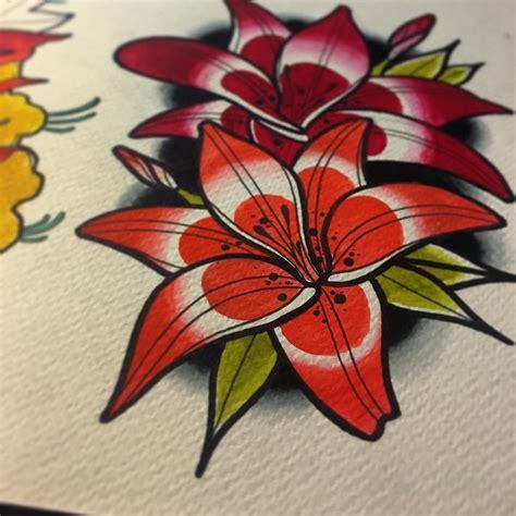 tattoo flash lily dneska vyucba z botanickeho sektoru tyyvoe lily flower