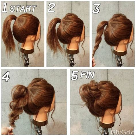 fashion forward hair up do best 25 easy updo ideas on pinterest easy chignon