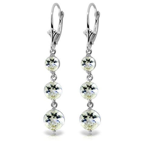 White Gold Chandelier Earrings 7 2 Carat 14k Solid White Gold Chandelier Earrings Aquamarine