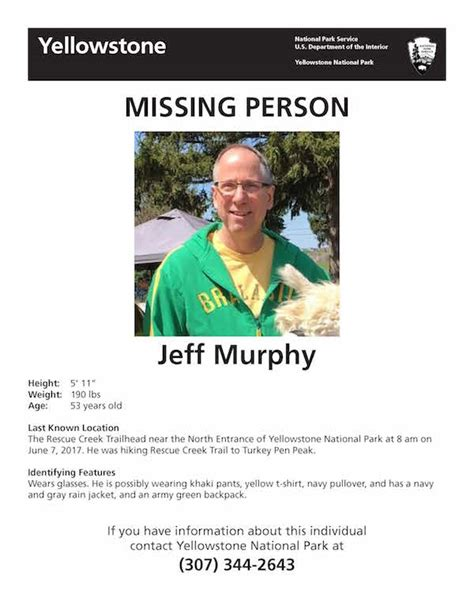 Search Missing Authorities Search For Missing Hiker In Yellowstone