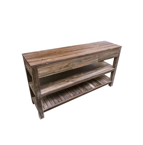 Set Ombak Size 1 the peneda reclaimed wood console table by ombak furniture