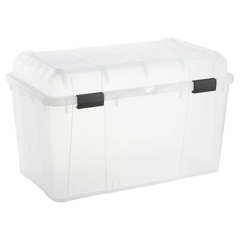 iris 34 5 gal hinged lid trunk the container store
