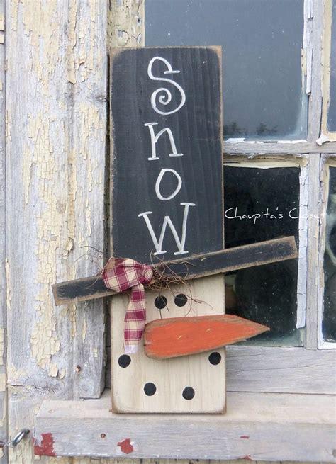 Handmade Door Signs - primitive snowman wood sign door rustic country