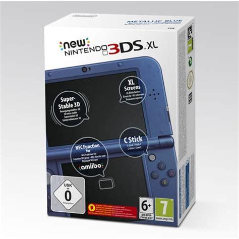 Console New 3ds Xl Bleu M 233 Tallique Pas Cher 224 Prix Auchan