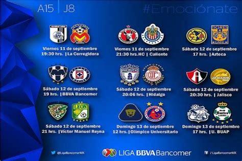 Calendario Liga Mx Jornada 17 Apertura 2015 Liga Mx Conoce El Calendario De La Jornada 8 Apertura