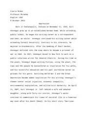 Kurt Vonnegut Essay by Harrison Bergeron Course