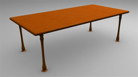 tutorial blender table table model in blender 2 48 3d and 2d art sharecg