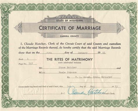 Ms Marriage Records Descendants Of Samuel Parsons Johnson And Susan Eliza Beck Metryman