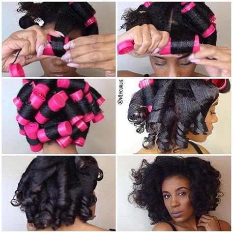 roll and set hairstyles 183 best natural hair roller set images on pinterest