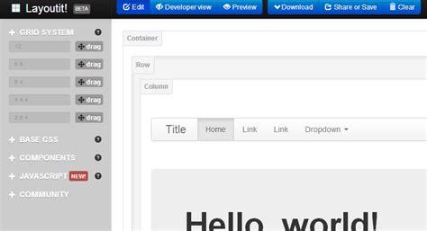 layoutit css jetstrap y layoutit nos permiten construir interfaces
