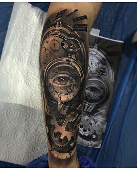 tattoo eye sleeve sleeve tattoo clock eye tattoos pinterest tattoo