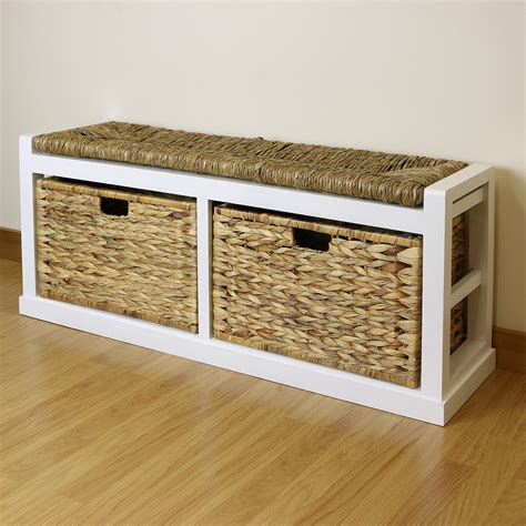 bench foam white twin seat hallway home shoe storage bench foam