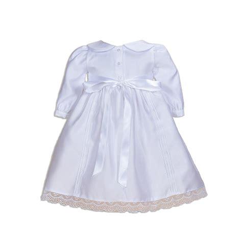 myrubylicious cinda longsleeve cinda white baby satin sleeves christening dress with
