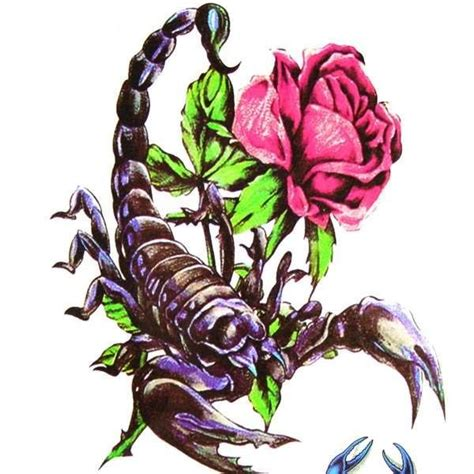 scorpion with rose tattoo scorpion with tattoos search tattoos