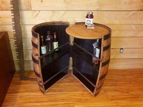 wine barrel liquor cabinet let s decorate
