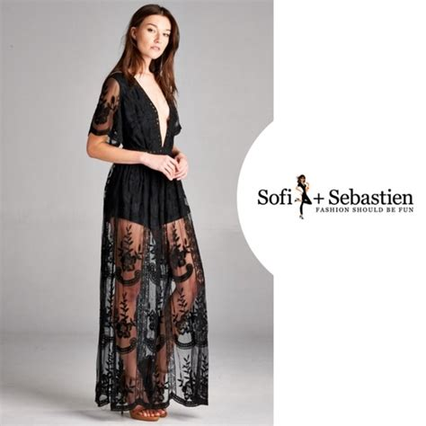 Maxi Sofi 93 sofi sebastien dresses skirts plunge neck embroidered lace maxi dress romper from
