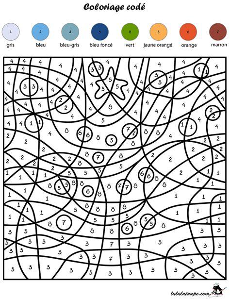 Coloriage Cod 233 Les Chiffres Un Sapin Lulu La Taupe