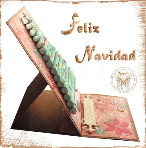 tutorial bìa scrapbook tarjeta caballete arbol en relieve tarjeter 237 a