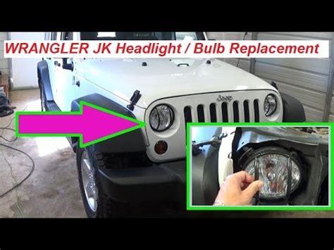 Jeep Jk Headlight Bulb Jeep Wrangler Headlight Bulb Change Sylvania Silverstar