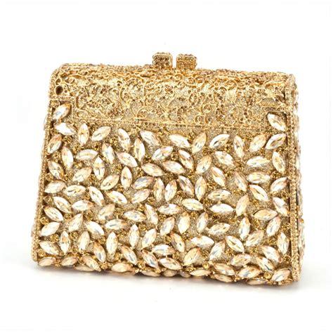 Clutch Cnk Evening Clutch gift box gold colors metal clutches bridal evening clutch bag make up box