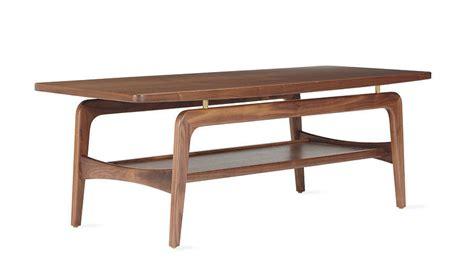 skagen coffee table walnut modern dwr design within reach