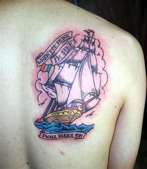 old school ship tattoo designs school ship picture