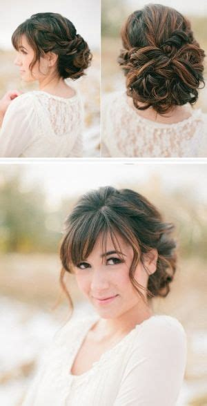 best 25 wedding hair bangs ideas on