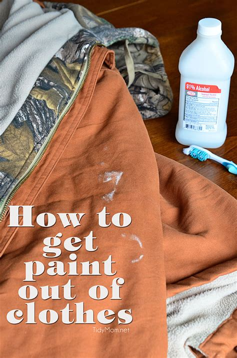 get paint how to get paint out of clothes