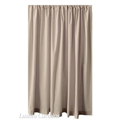 120 inch long drapes extra length beige 120 quot h velvet curtain long panel media room office drapery ebay