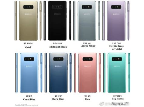 Samsung Note 8 256gb samsung galaxy note 8 could 8 color options 256gb storage bgr india