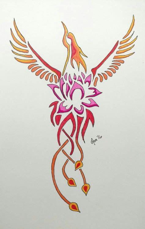 tattoo phoenix lotus colorful phoenix lotus composition tattoo design