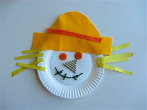 harvest crafts paper plate scarecrow craft